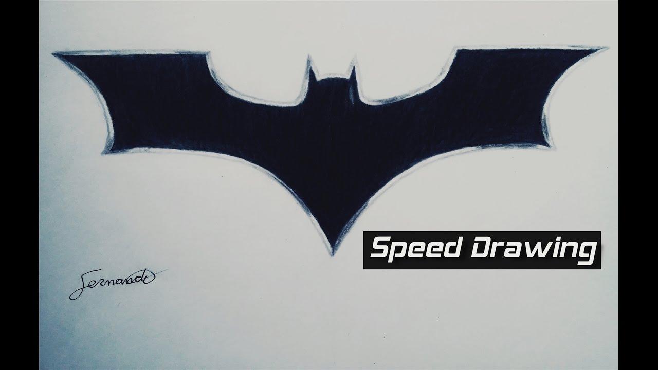 Desenho Rapido Simbolo Do Batman Fernando Speed Drawing Batman