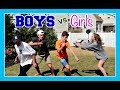 BOYS VS GIRLS FOOTBALL & OTHER STUFF | Flippin' Katie