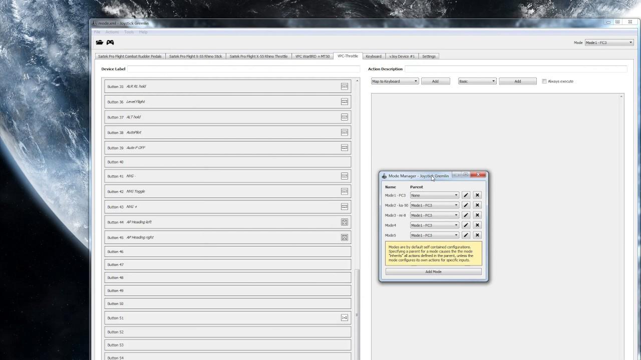 Virpil VPC Throttle - Macros, rotaries Tutorial with joystick gremlin