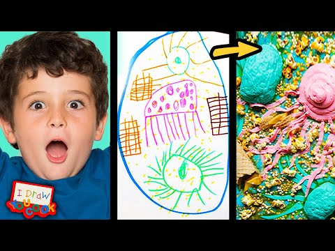 Can These Chefs Turn This Sea Monster Drawing Into Sweet Desserts? Tasty