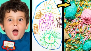 Can These Chefs Turn This Sea Monster Drawing Into Sweet Desserts? • Tasty
