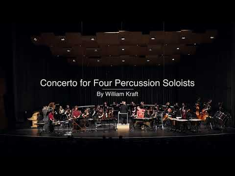 Concerto for Four Percussionists by William Kraft