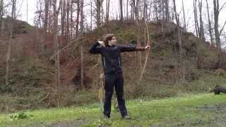 "Slow-Motion Training with my new Bodnik Bows ""Cayuga"" Longbow"