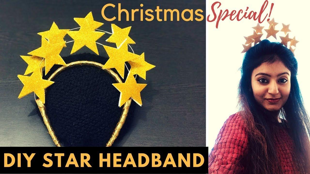 DIY Golden Glitter Star Headband  cfa4278d9cd