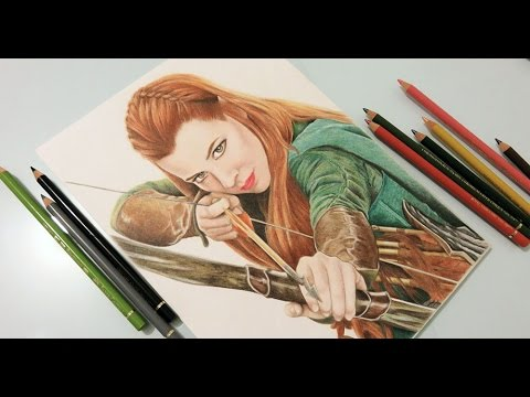 Tauriel The Hobbit Speed Drawing Youtube