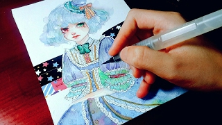 [ WATERCOLOR MANGA ART ] Lolita   :3
