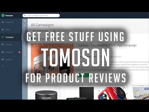 Get free stuff using Tomoson for product reviews