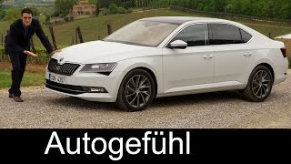 All-new Skoda Superb L&K 2.0 TSI 2016 FULL REVIEW test driven + trim levels & colours