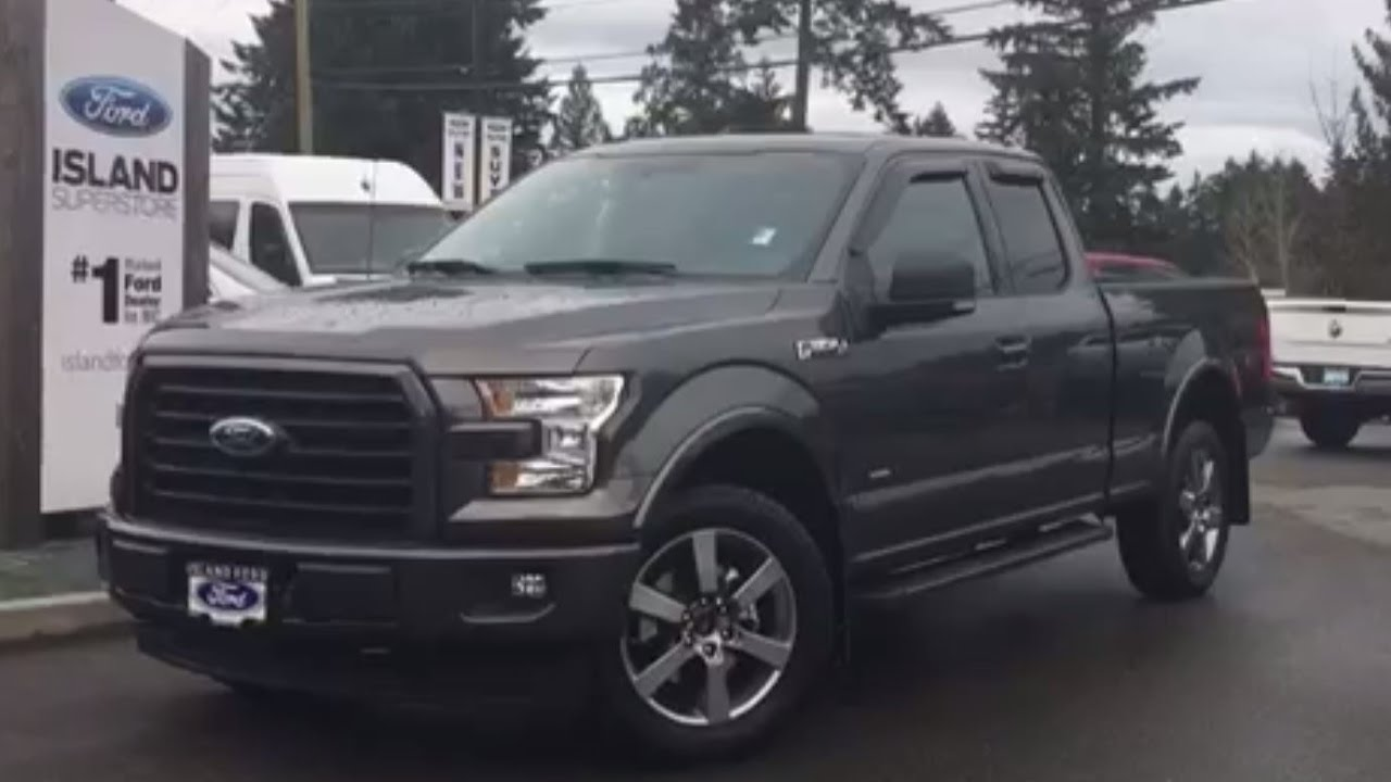 2017 f 150 xlt sport 302a v6 ecoboost super cab backup camera review island ford youtube. Black Bedroom Furniture Sets. Home Design Ideas