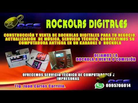 ROCKOLA DIGITAL QUITO-ECUADOR, INCLUYE KARAOKE POR MONEDAS , MÚSICA VARIADA