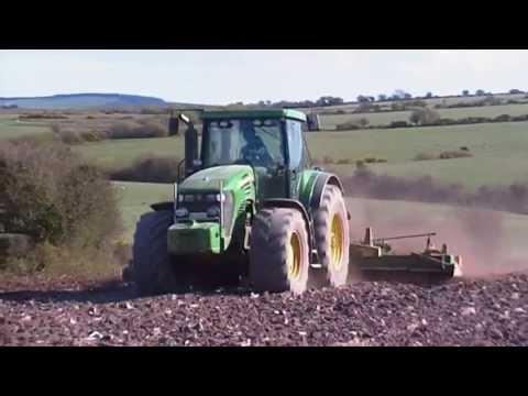 John Deere 7920 Power Harrowing 2012 Co.Cork