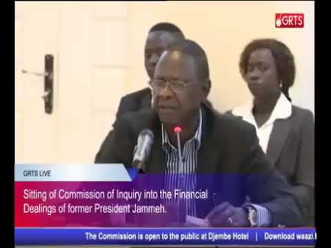 The 39TH Sitting Of The Gambia Commission Of Enquiry 23/10/2017