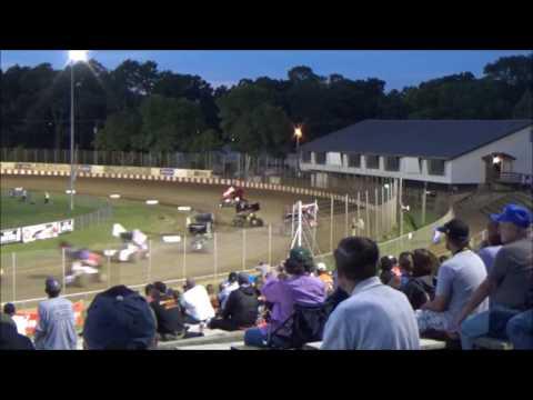 Angell Park Speedway 7/30/17 MSA Sprint Car Heat, A Main