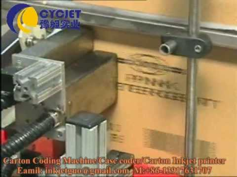 Automatic Carton Printing Machine/case coding system/carton coders/box coders/date code printer CYC