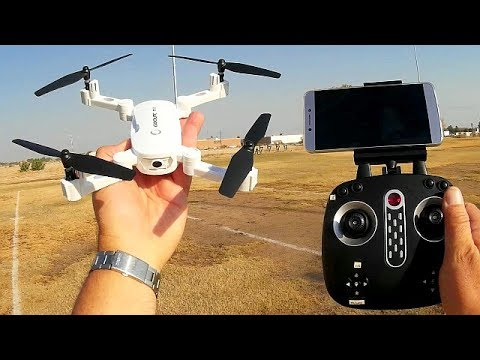 GoolRC T32 Folding 720p HD FPV Camera Drone Flight Test Review