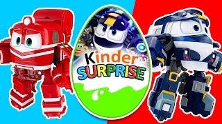 Роботы-поезда. Мультики. Киндер сюрприз. Robot trains. Kinder Surprise. 로봇트레인