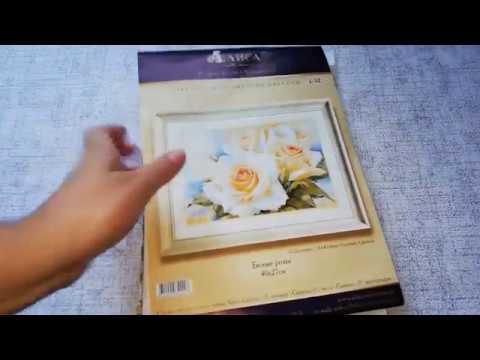 Алиса белые розы вышивка