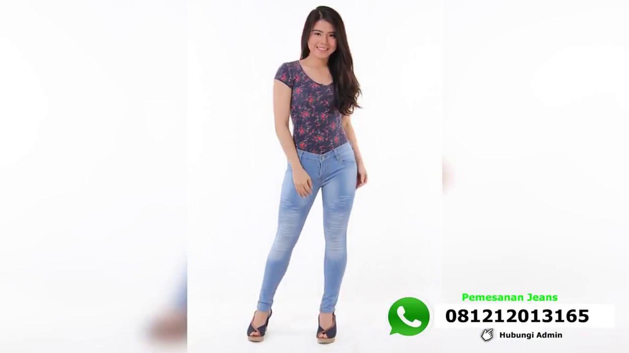Celana Jeans Wanita Kekinian Wa 0812 1201 3165 Youtube