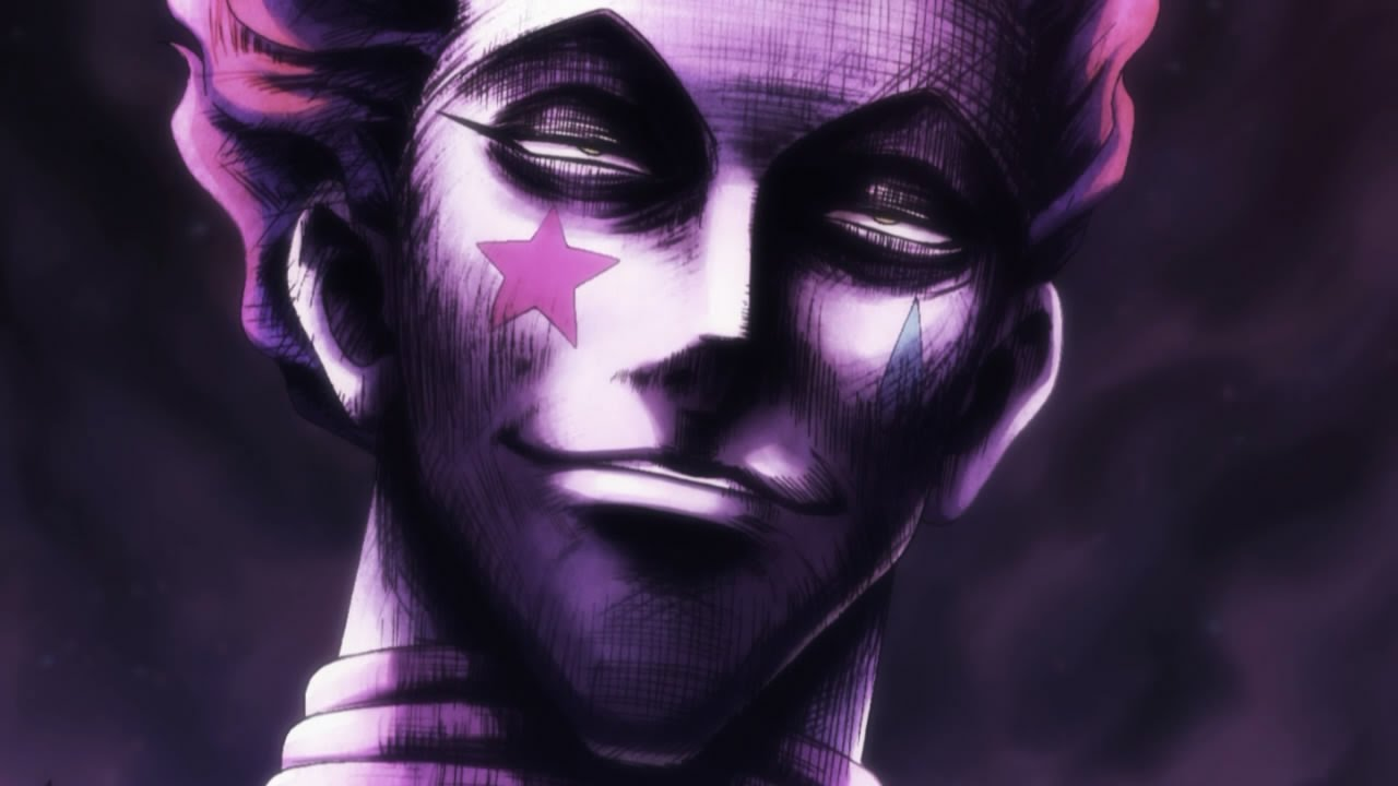 Image result for hisoka happy
