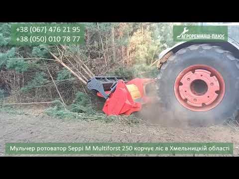 Мульчер - ротоватор Multiforst 250 Seppi M корчує ліс в Хмельницькій області швидко та ефективно
