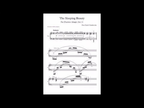 Tchaikovsky  Pas D'action Adagio from Sleeping Beauty (with score)
