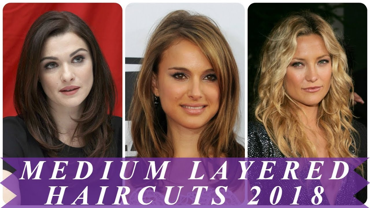 Layered hairstyles for medium length hair 2018 for women - YouTube