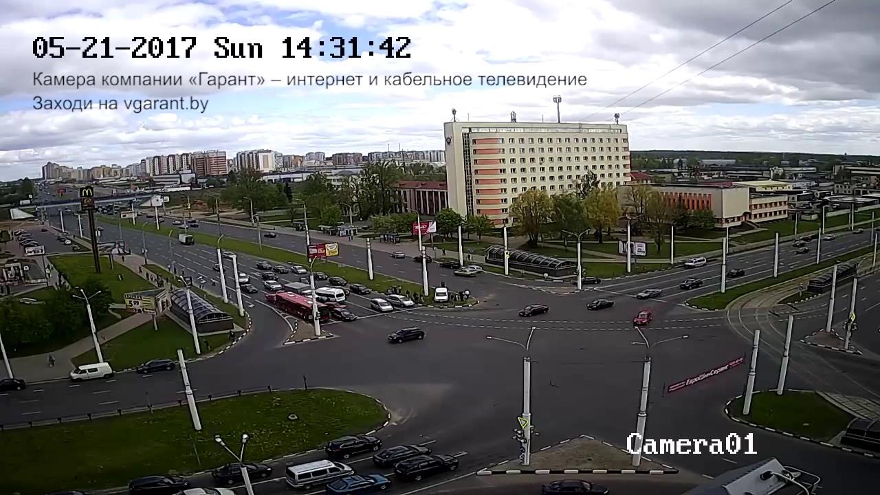 Авария в Витебске 21 мая 2017