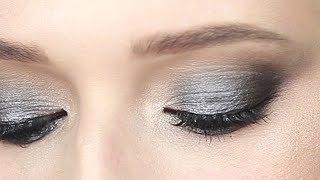 Вечерний макияж в серых тонах. Косметика SINART. Урок макияжа.
