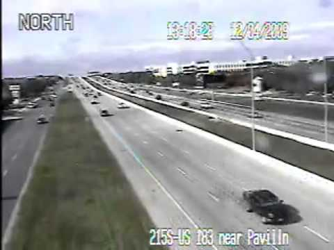 Crazy Austin weather on TxDOT traffic cams