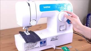 [Brother] JA1450NT機械式縫紉機 - 釘鈕示範...