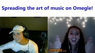 Singing for MORE cool people on Omegle!   Omegle Singing #2