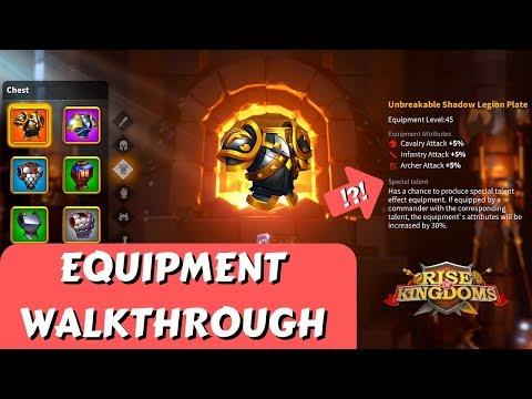 Equipment Walkthrough - Let's Craft Some Gear! | Rise Of Kingdoms