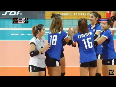 Thailand vs Indonesia | 23 August 2017 | Volleyball Women's