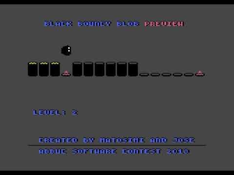 Black Bouncy Blob - Atari XL/XE gameplay