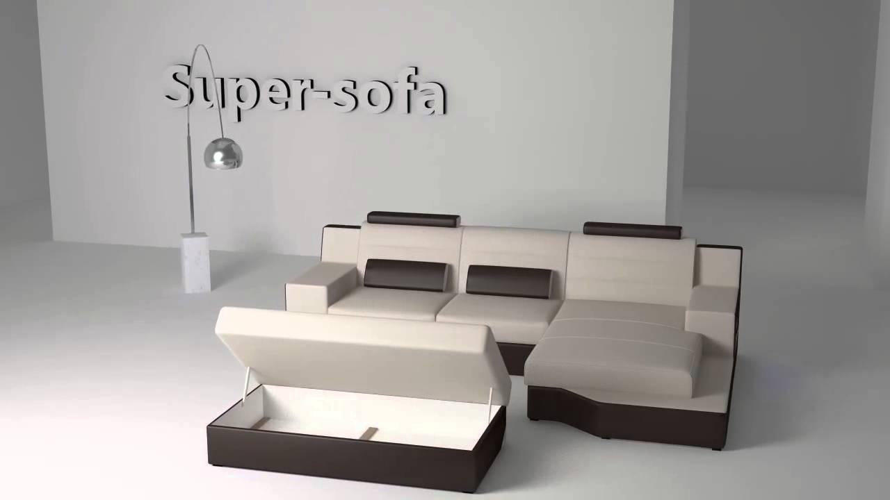 Ecksofa mini  Ecksofa mit Schlaffunktion Ronaldo Mini -- super-sofa-shop.de ...