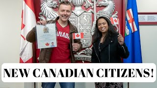 We Are Canadians Now! | Canadian Citizenship Ceremony.