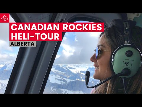 AMAZING Helicopter Tour Over Canadian Rocky Mountains!