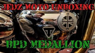 BPD Medallion Engine Cover for Triumph Water Cooled Twins unboxing