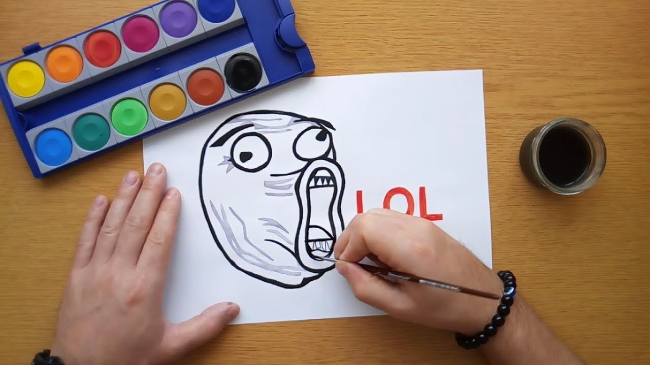 How To Draw A Lol Meme Face