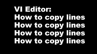 VI Editor  How To Copy Lines