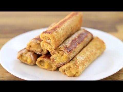 Banana Bread Toast Recipe | Banana French Toast Roll-Ups