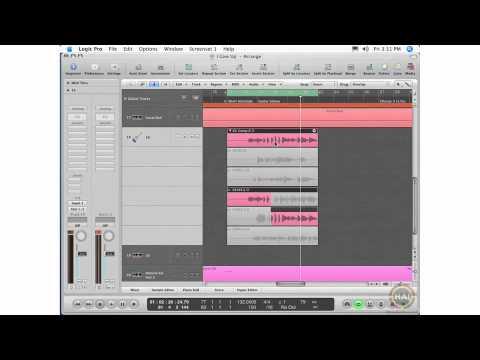 Apple Logic Pro 8 Ch 9 Take Folders - Cycle Record, Editing Take Folders, Comp Regions