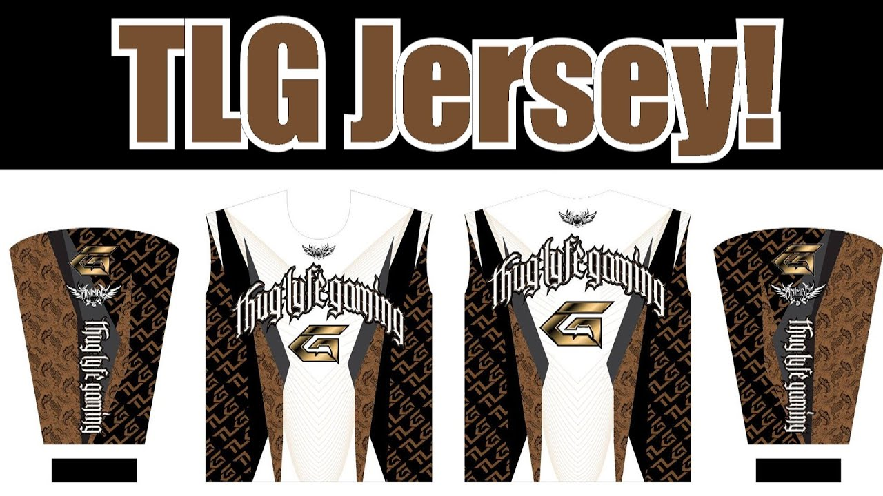 6771e63eb62 Thug Lyfe Gaming JERSEY! SQUAD! AMBASSADORS! (Custom Pro Gaming Jerseys  Made By Animal Customs)