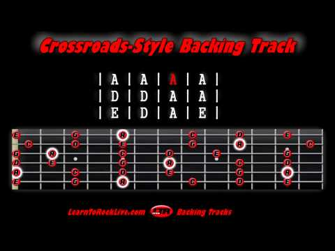In the Style of Crossroads  Backing Track - LearnToRockLive.com