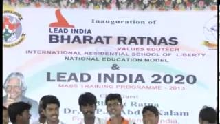 Lead India 2020 Song  at Lead India Bharat Ratnas International Residential School Inauguration