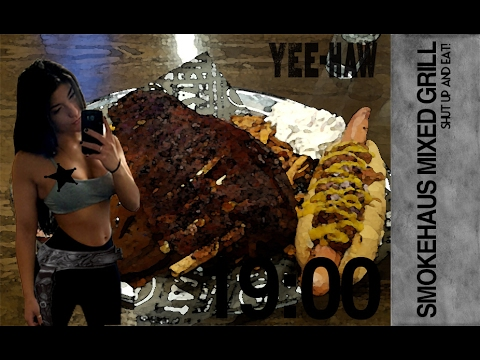 [Girl Vs Food] Mixed Grill Challenge, The Smoke Haus, Brindley Place