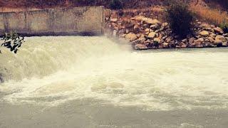 Ловля канального сомика на водопаде, река Егорлык