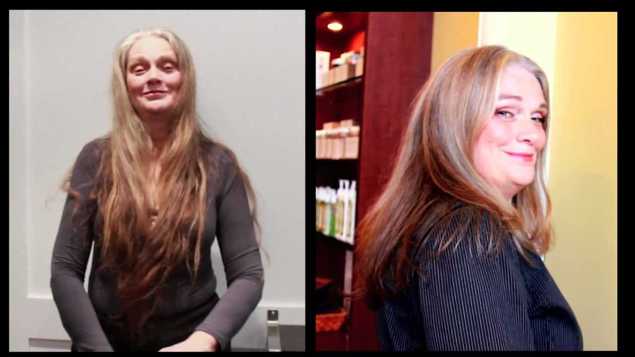 Extreme Mom Makeover - Hair Cut, Nails and Makeup! - YouTube