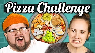 PIZZA CHALLENGE!!! (Gross Toppings) | College Kids Vs. Food