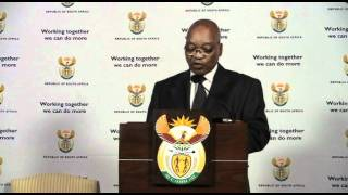 President Jacob Zuma reshuffled his cabinet at a media briefing at Union Buildings on Monday 24 October, 2011.